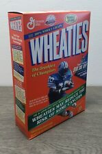 Vintage Wheaties Cereal w/ Barry Sanders 18 oz Full Box Factory Sealed