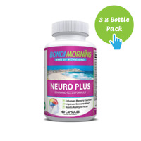 Neuro Plus Brain Booster Formula, Nootropic Supplement - 60 Caps x 3