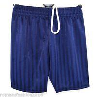 New UK Boys Girls Childrens School Sports Shadow Stripe PE Shorts Kids Football