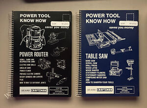Power Tool Know How Books Table Saw & Power Router Sears Craftsman Lot Bundle 2