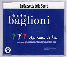 CLAUDIO BAGLIONI DA ME A TE PROMO LA GAZZETTA DELLO SPORT CD SINGOLO SINGLE cds