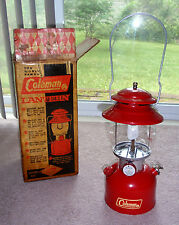 Vintage Red COLEMAN 200A Lantern Dated 3-67 w / Original Box NEAR MINT CONDITION