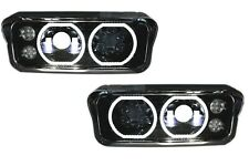 KENWORTH W900 T800 T600 FULL LED PROJECTOR HEADLIGHT | Black | Pair (RH & LH)