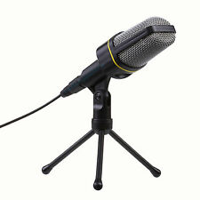 Professional 3.5mm Studio Microphone Mic With Stand For Skype Desktop PC Tablet