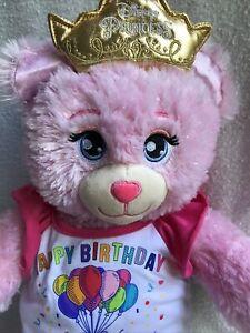Build A Bear Disney Princess Pink Sparkle Plush Tiara BAB Good Used Condition