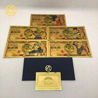 5 Banconote Dorate, Dragon Ball, Dragon Ball Z, Goku, Vegeta, Super Sayan, Gold