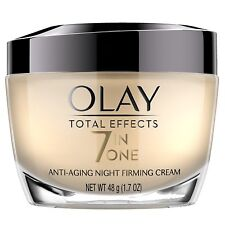 Olay Total Effects Anti-Aging Night Firming Cream & Face Moisturizer, 1.7 Fl Oz