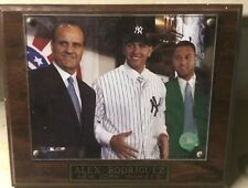 Vintage Wooden Baseball Plaque Alex Rodriguez Derek Jeter Joe Torre Yankees