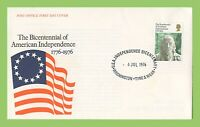 G.B. 1976 American Indepence Bicentennial 11p issue on Commem Cover 4th July