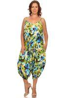 Women's Ladies Plus Size Floral Print Fashion Jumpsuit Stylish Comfort 1X 2X 3X