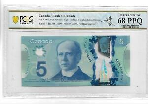 CANADA 2013 5 DOLLARS P#106b PCGS 68 SUPERB GEM UNC PPQ NOT PMG