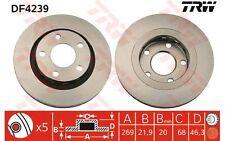 TRW Juego de 2 discos freno 269mm ventilado AUDI A6 A8 DF4239