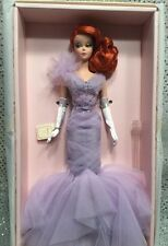REDHEAD LAVENDER LUXE SILKSTONE BARBIE DOLL 2014 GOLD LABEL CGT28  MINT NRFB