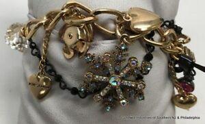 Betsey Johnson Rhinestone Faux Crystals Bracelet