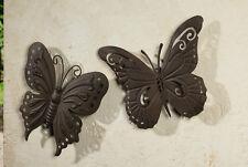 Wanddeko Falter 2er Set, Schmetterling, Wanddeko, Wandschmuck, Metall