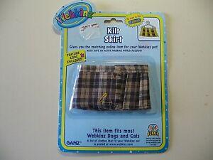 Webkinz: Kilt Skirt, made by Ganz, Brand New & Sealed with code