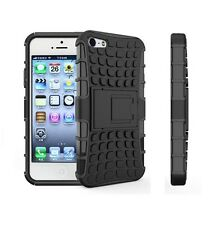 iPhone 5 Black Protective Defender Case Shockproof Rugged Cover.