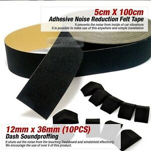 Noise Reduction Felt Tape 2inX39in Dashboard Soundproffing 10pcs For All Vehicle