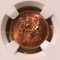 1970 RHODESIA 1/2 CENT NGC MS 65 RB