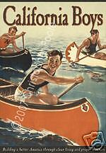 California Boys - Vintage 1950s Style Pulp Movie Poster