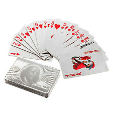 Luxury Sliver Foil Poker Playing Cards Deck Plastic Playing Cards Table Game USA