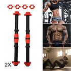 2pcs Dumbbell Bars & Spinlock Collars Set Weight Lifting Gym Dumbell Handles