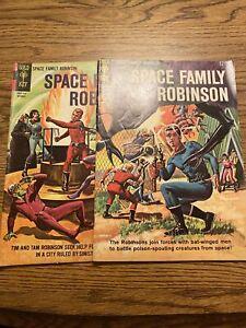 Space Family Robinson #10 #11 Fine- 1964 Gold Key Comics Complete