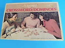 "SCRABBLE ""CROSSWORD/ DOMINOES"" WORD TILE BOARD GAME~ WON AWARD~ Vtg 1975~ IN USA"