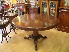 tavolo antico tondo fine '800 italiano in noce