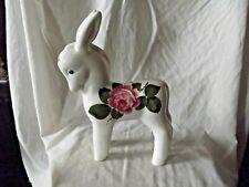 Vintage & Rare Large Wemyss Bovey Plichta Donkey with Cabbage Roses