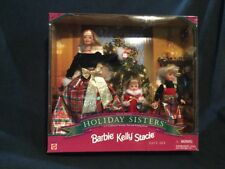 1998 Christmas HOLIDAY SISTERS BARBIE KELLY STACIE DOLLS~~New In Box
