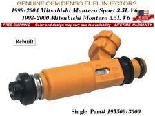 1 Fuel Injector OEM DENSO for 1998-04 Mitsubishi Montero/ Montero Sport 3.5L V6