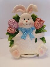New Tii Collections Canape Plate Serving Dish Easter Bunny & Tulips