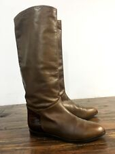 BRUNO MAGLI Beautiful Tall Brown Leather Boots – Women's Size 40 B / US 10