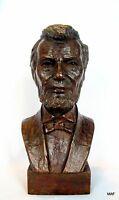 President Abraham Lincoln Bronze Lost Wax Cast Sculpture Portrait Original Lt ed