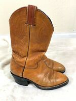 LUCCHESE Brown Womens Leather Cowboy Boots - Size 6.5