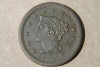 1852 Braided Hair Liberty Head Large Cent UNC