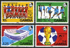 Gambia 443-446,MI 441-444,MNH. Soccer,World Cup,Spain.Team,Players,Stadium, 1982