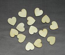 Wooden Hearts Laser Cut Craft Embellishment DIY Decorations Set-3cm x 30pcs.