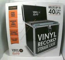 BUDDY Vinyl Record Storage  Case for 40 Records, Black