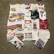 Vintage Wholesale Women 22 T Shirt Lot Graphic Nascar Racing Bundle 00s