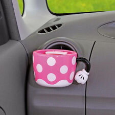 DISNEY Minnie Mouse Cup Holder Phone Holder Storage Car Accessories PINK