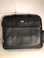 Targus Travel Laptop Computer Leather Bag/Satchel Case EUC See Pictures
