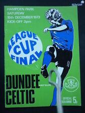 Teams C-E Dundee League Cup Final Football Programmes