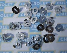 1936-1990 Chevrolet  & Truck Molding, Emblem, Ornament, Mounting Clips. 25 pack