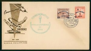Mayfairstamps Philippines FDC 1954 Manila Conference Combo First Day Cover wwp_5