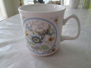 "Grosvenor England Fine Bone China - Coffee Cup "" Celandine Design"" Excellent"