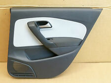 VW Polo 6r Cross cubrejuntas derecha detrás de tela Weis/negro 6r6867212j