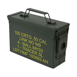 HMF 70011 Munitionskoffer,US Ammobox, Metallkiste, 30 cm, grün 2. WAHL