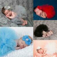 Neugeborenes Baby Mädchen häkeln stricken Rock Kostüm Fotografie Foto Outfi F2Y5